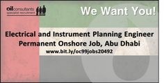 Electrical and Instrument Planning Engineer Permanent job in Abu Dhabi, UAE More details at Oil Jobs, Contract Jobs, Job S, Oil And Gas, Abu Dhabi, Uae, Engineering, Mechanical Engineering, Technology