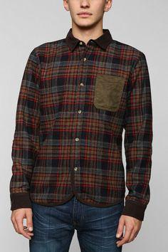 Charles & 1/2 Plaid Shirt Jacket #urbanoutfitters