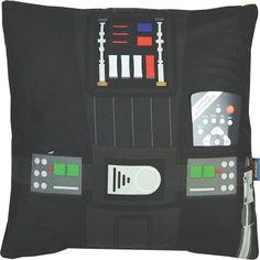 Star Wars: Cushion With Pocket: Darth Vader Cadeau Star Wars, Cadeau High Tech, Star Wars Design, Darth Vader, Star Wars Gifts, Geek Girls, Geek Stuff, Cushions, Pocket