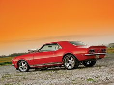 My first car was just like this one, except for the roof. Mine had a black vinyl top. 1968 SS camaro.