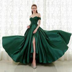 583ad3b011c Emerald Off Shoulder Prom Dress – The Dress Rail Boutique Homecoming Dresses  Long