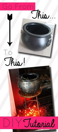 Confessions of a New / Old Home Owner: DIY Aged Cauldron Tutorial