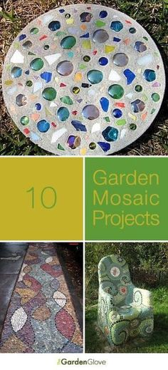 10 Garden Mosaic Projects • Lots of Ideas & Tutorials! by aftr