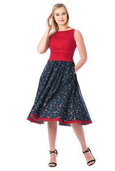 Embellished ladybird mixed media dress