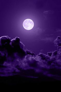 purple & moon