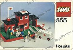 vintage lego sets | LEGO 555-1 Hospital Set Parts Inventory and Instructions - LEGO ...