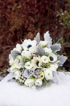 dusty miller bridal bouquet wedding brides of adelaide magazine