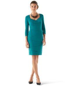 White House | Black Market Instantly Slimming 3/4-Sleeve Dress