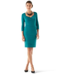 White House | Black Market Instantly Slimming 3/4-Sleeve Dress