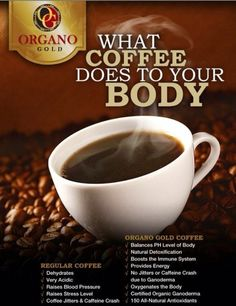 Organo Gold worlds leading Coffee and Tea provider enriched with Organic Ganoderma mushrooms, Bringing the treasures of the earth to the people of the world Black Coffee, My Coffee, Coffee Drinks, Coffee Time, Coffee Cups, Coffee Jitters, Healthy Gourmet, Healthy Drinks, Change Your Life