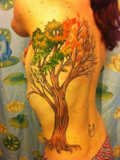 Seasons Tree - By Honest Jon @ Slave to the Needle  This is beautiful, What a wonderful Idea!