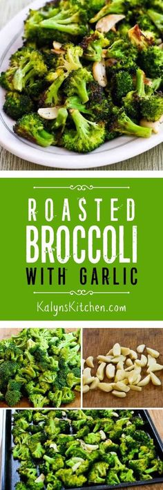 This delicious 5-ingredient Roasted Broccoli with Garlic is low-carb, Paleo, gluten-free, dairy-free, and vegan, so you can serve it to anyone! This broccoli is so good, you might not ever need another broccoli recipe. [KalynsKitchen.com]