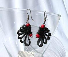 """""""Wings"""" Recycled Bycicle Inner Tube Earrings  www.morganacrea.it"""