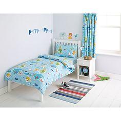 Buy little home at John Lewis Globe Trotter Duvet and Pillowcase Set, Single Online at johnlewis.com