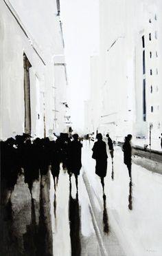 Thirty People, City Black & White by Geoffrey Johnson