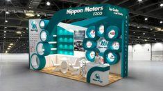 Nippon Motors Exhibition Stand Design for Automechanica Dubai UAE. Kiosk Design, Display Design, Exhibition Stall Design, Exhibition Stands, Exhibit Design, Stand Feria, Shop Interior Design, Branding, Design Reference