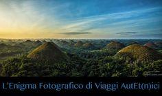 Enigmi Fotografici. Le Chocolate Hills, Filippine. Queste splendide colline ricoperte interamente di erba offrono un paesaggio mozzafiato unico al Mondo. Ma sapete perché si chiamano così?
