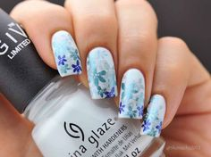 Flower Stamping Nails / ChinaglazeNew Birth (Giver Collection)