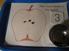 The Preschool Experiment: Tot School: Apple Trays