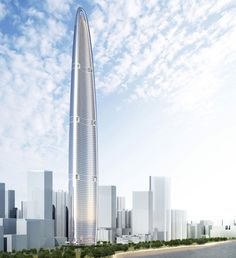 Wuhan Greenland Center, Wuhan, China. The tower will be more than 630 metres tall when completed in 2017.