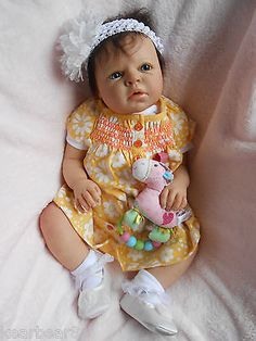 Reborn Baby Girl Awake Noah by Reva Schick 20 Inch 7lbs 5oz Baby Jenna