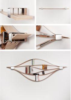 Product design furniture Natascha Harra-Frischkorn #bookshelf #modern #unique #design #flexible #functional