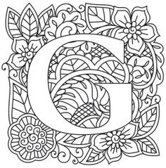 145 Best Monograms Images Coloring Books Coloring Pages Vintage