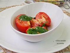Cinco sentidos na cozinha: Tomate grelhado com flor de sal e manjericão