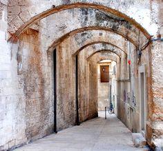 | ♕ | Ancient portico - Monopoli in Puglia | by © L▲Iv | via ysvoice