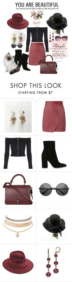 """""""life = making choices"""" by daincyng ❤ liked on Polyvore featuring Michelle Mason, Gianvito Rossi, Carven, Charlotte Russe, Larose, 1928 and Burberry"""