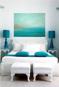 Turquoise Ocean Abstract Original Painting by OraBirenbaumArt, $365.00 by lucille