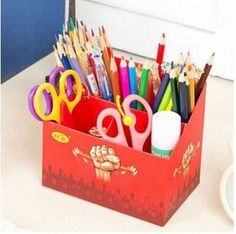 9 Ptterns Home & Office Storage Box Paper Eco-friendly Candy Color Desk Table Paper Box Container for Home & Office Storage Box
