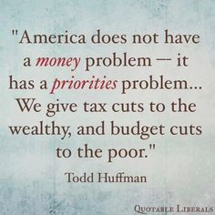 We don't have a money problem, we have a GOP problem. Vote them out!