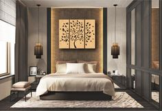3 Tree Wall Hanging Wall Decor Decal Wall Vinyl Tree | Etsy Room Design, Room Design Bedroom, Luxurious Bedrooms, Home Decor, Modern Bedroom, Simple Bedroom, Wall Decor Decals, Home Interior Design, Interior Design