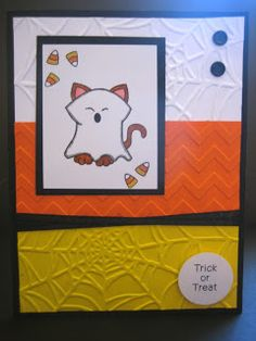 Candy Corn Halloween Card with Newton's Nook Designs and Stampin' Up Products