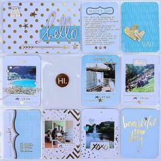 Project Life : Week 28 - a beautiful layout by Lynn Kopas using Heidi Swapp's Project Life Value Kits.