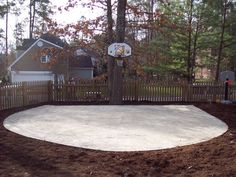Lovely Simple Concrete Slab For Bball Area. Pictures Of Outside Basketball Courts