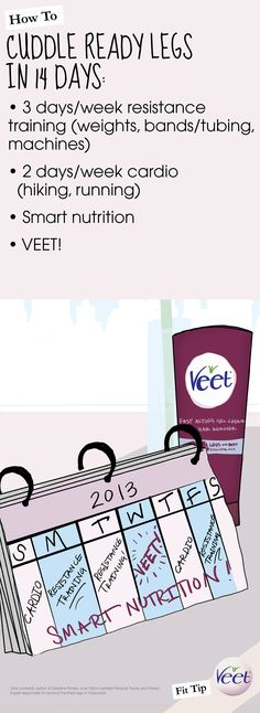 Adding Cuddle Ready Legs in 14 Days Fit Tip to my workout routine to help my #VeetSmooth legs look even better! Make the vow with me and enter for a chance to win a Veet Fitness Prize Pack here: https://www.facebook.com/veet/app_346997318760251?ref=ts #pintowin