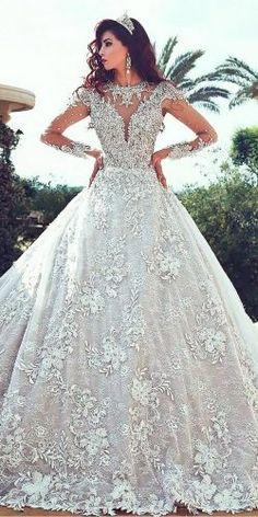 ballgown-lace-illusion-neckline-with-long-sleeves-tattoo-effect-wedding-dresses-bridesnova-250x500.jpg (250×500)