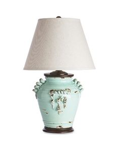 Small Vineyard Lamp in Distressed Aqua | Everything Turquoise