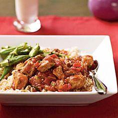 Pork Vindaloo by Cooking Light Gluten Free Recipes, Healthy Recipes, Meat Recipes, Healthy Food, Vindaloo, Indian Food Recipes, Ethnic Recipes, Cooking Light, Gumbo