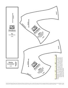 DB Details Club - Paisley wrap blouse pattern
