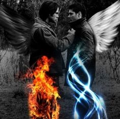 Supernatural Sam Dean Winchester I thought Lucifer said hell was cold? Just ask the winchesters if you wanna know so bad Sam Dean, Dean Castiel, Supernatural Fans, Supernatural Wallpaper, Supernatural Poster, Supernatural Bunker, Supernatural Drawings, Supernatural Seasons, Sam Winchester