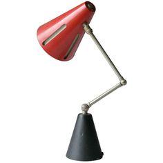 Rare 'Sun' Table Lamp by H.Th.J.A. Busquet for Hala