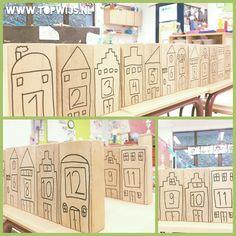 Hollandse huisjes: even-oneven Breakout Boxes, Math Numbers, Classroom Door, Little Pigs, Kids House, Holland, Amsterdam, Kindergarten, Homeschool