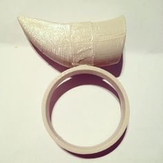 FIONA CRIBBEN 3d printed version of the Icelandic Whale tooth ring...