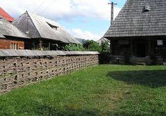 herringbone pattern wattle fence in Romania