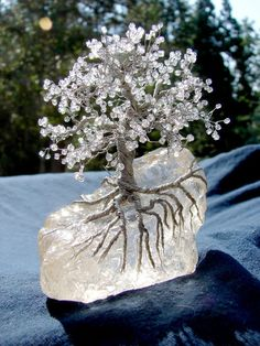 Crystal & wire tree..