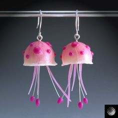 Jellyfish earrings (could make one for a pendant also)