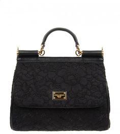DOLCE & GABBANA Black Lace Sicily Bag from WWW.PROFILEFASHION.COM